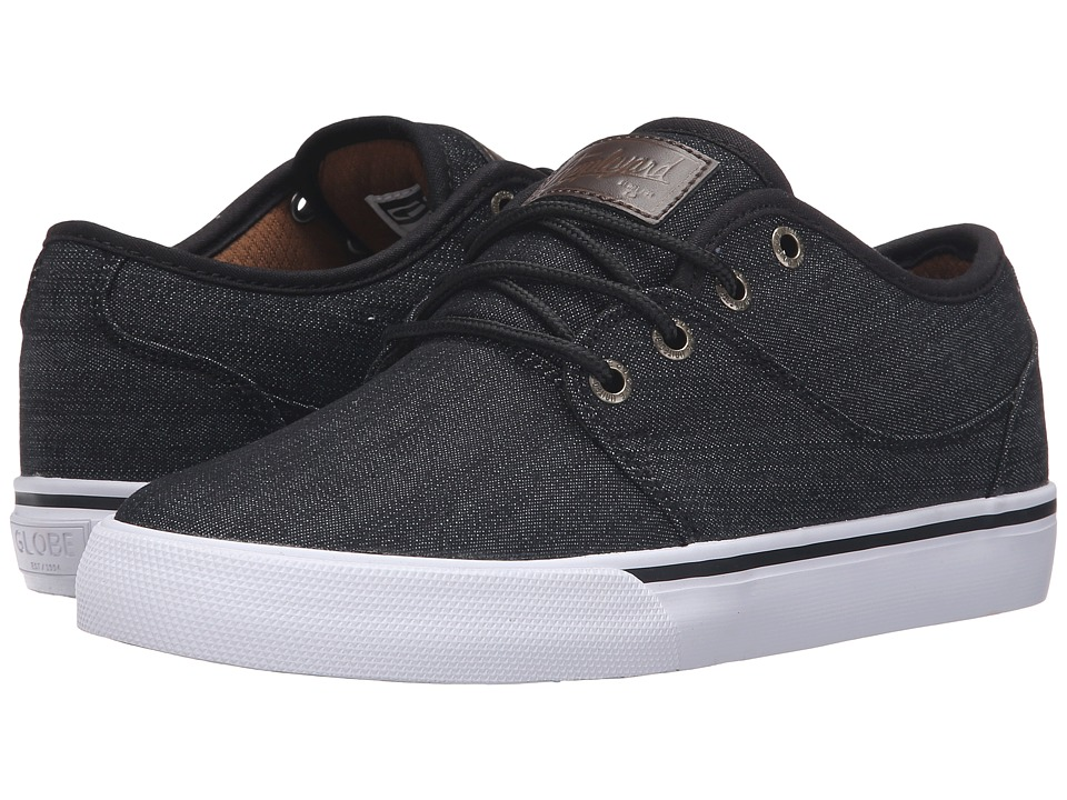 Globe - Mahalo (Black Denim) Men's Skate Shoes