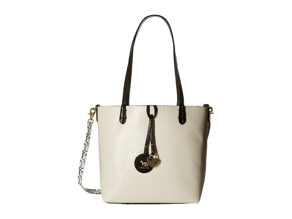 Emma Fox - Savannah Bag-in-Bag (White/Black Multi 2) Tote Handbags