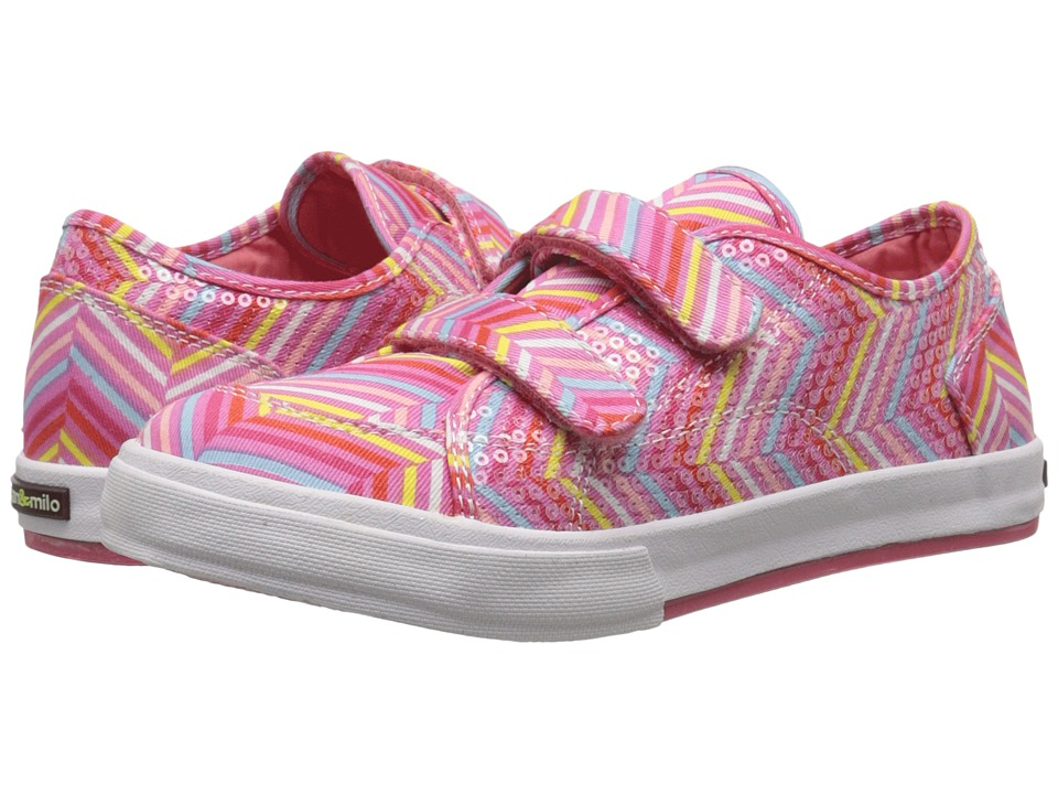 Morgan&Milo Kids - Lucy Double V (Toddler/Little Kid) (Pink Multi) Girls Shoes
