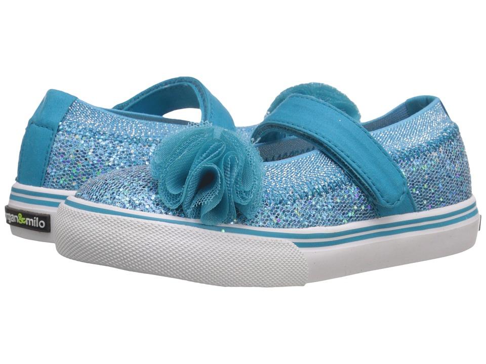 Morgan&Milo Kids - Shimmer Maryjane (Toddler/Little Kid) (Blue) Girls Shoes