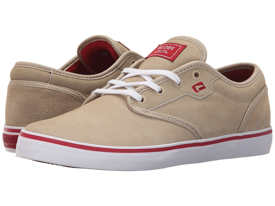 Globe - Motley (Tan/Red) Men's Skate Shoes