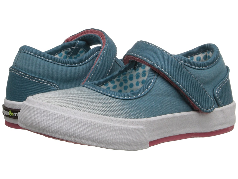 Morgan&Milo Kids - Maddie Mary Jane (Toddler/Little Kid) (Peacock Blue) Girls Shoes