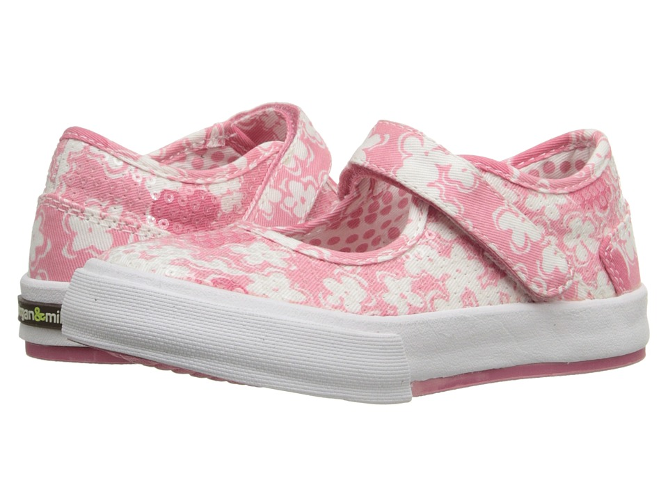 Morgan&Milo Kids - Maddie Mary Jane Floral (Toddler/Little Kid) (Pink Floral) Girls Shoes