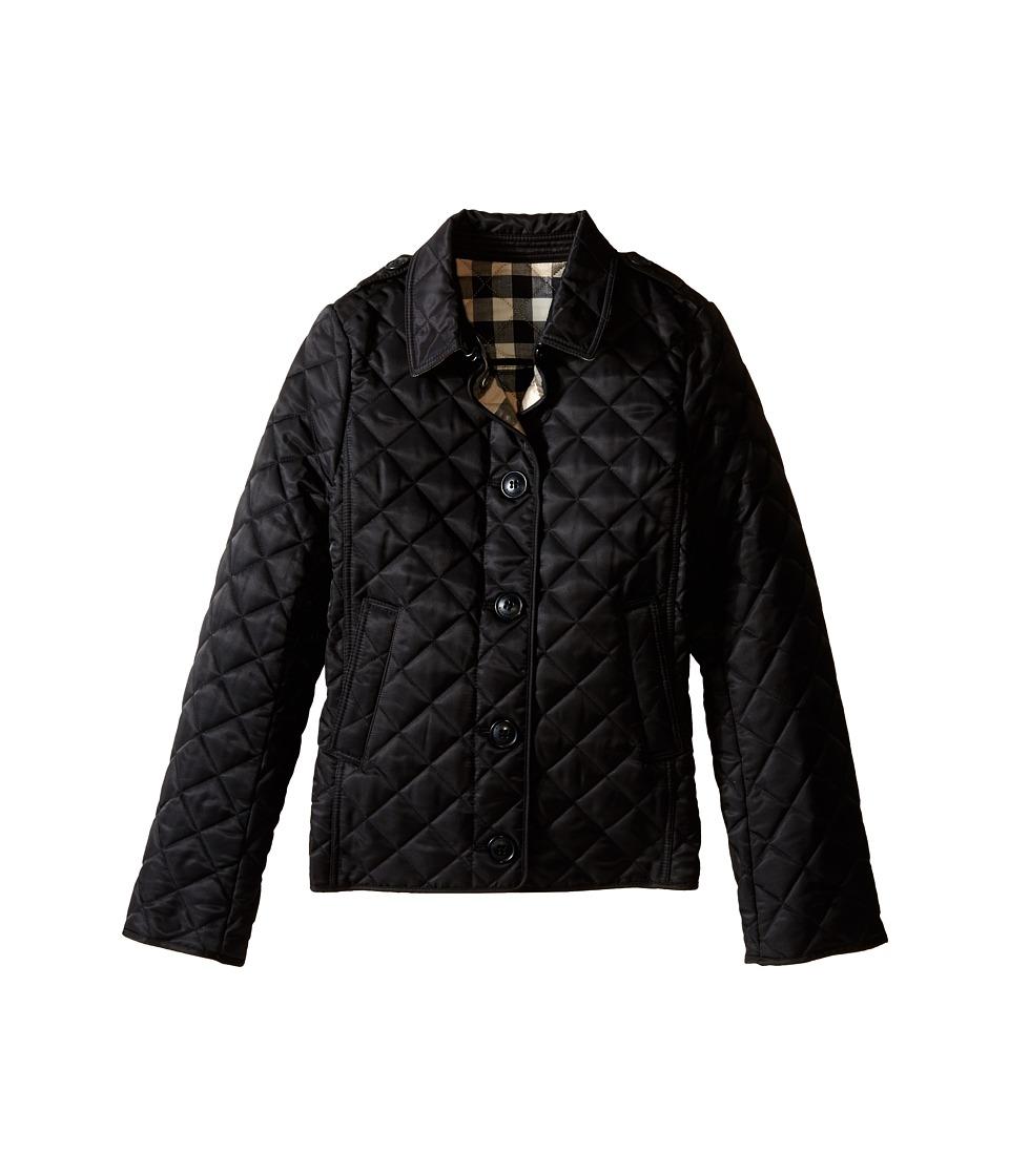Burberry Kids - Mini Ashurst New Classic Modern Quilted Coat (Little Kids/Big Kids) (Black) Girl's Coat