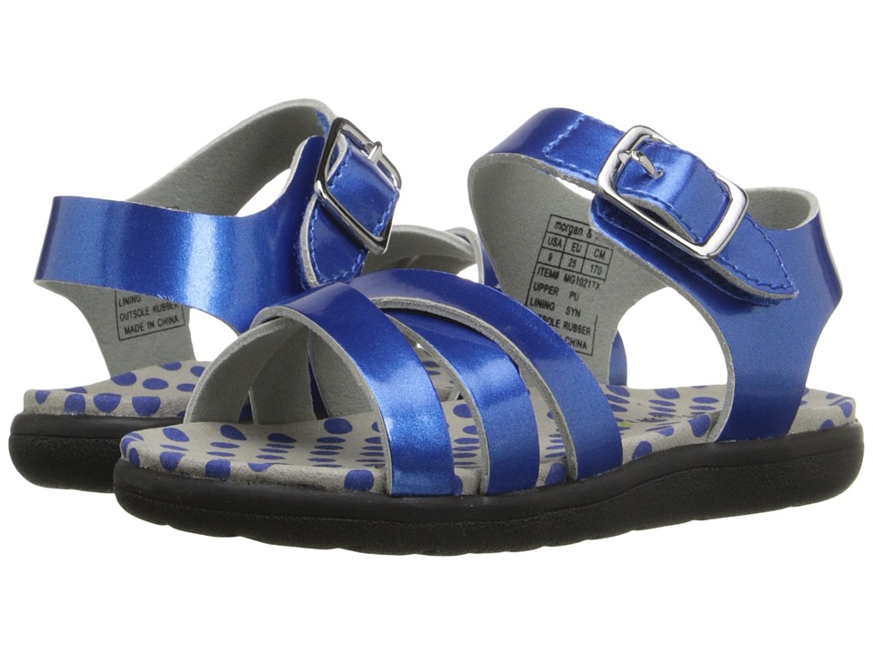 Morgan&Milo Kids Mina Sandal (Toddler/Little Kid) (Blue) Girls Shoes
