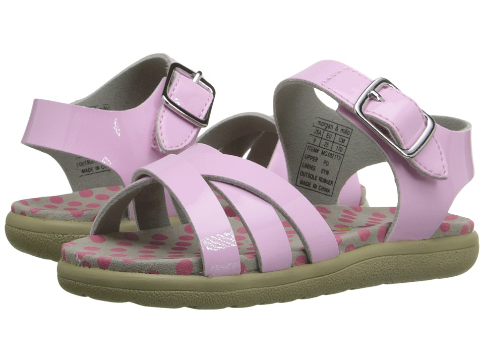 Morgan&Milo Kids - Mina Sandal (Toddler/Little Kid) (Pale Pink) Girls Shoes