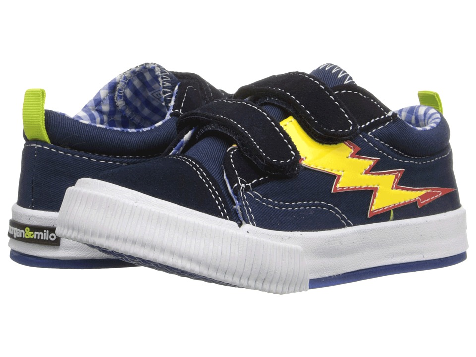Morgan&Milo Kids - Double V Flames (Toddler/Little Kid) (Brave Navy Flame) Boys Shoes
