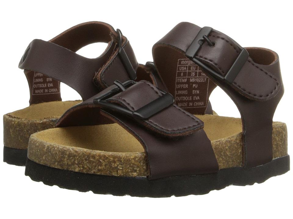 Morgan&Milo Kids - Taos Sandal (Toddler/Little Kid) (Semi-Sweet Chocolate) Boys Shoes