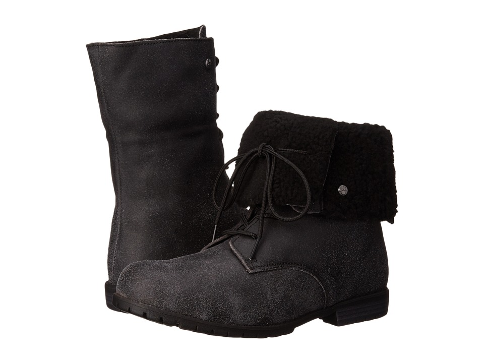 Bearpaw - Jeanette (Black Distressed) Women's Pull-on Boots
