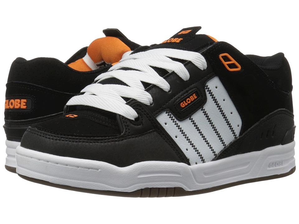 Globe - Fusion (Black/White/Orange) Men's Skate Shoes
