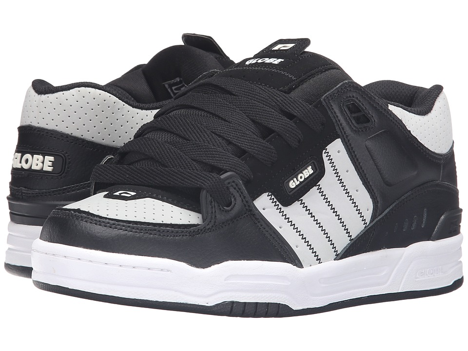 Globe - Fusion (Black/Grey/White) Men's Skate Shoes