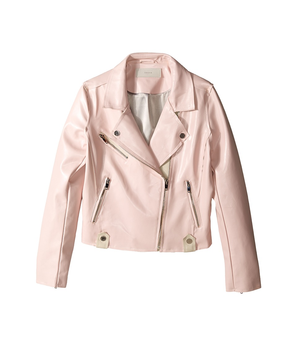 Blank NYC Kids - Vegan Leather Moto Jacket in Little Princess (Big Kids) (Pink) Girl's Coat