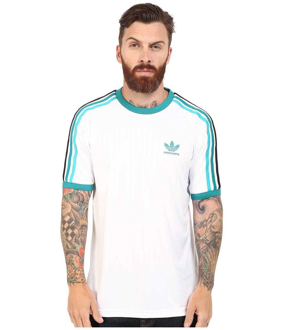 adidas Skateboarding - Clima Club Jersey (White) Men's T Shirt