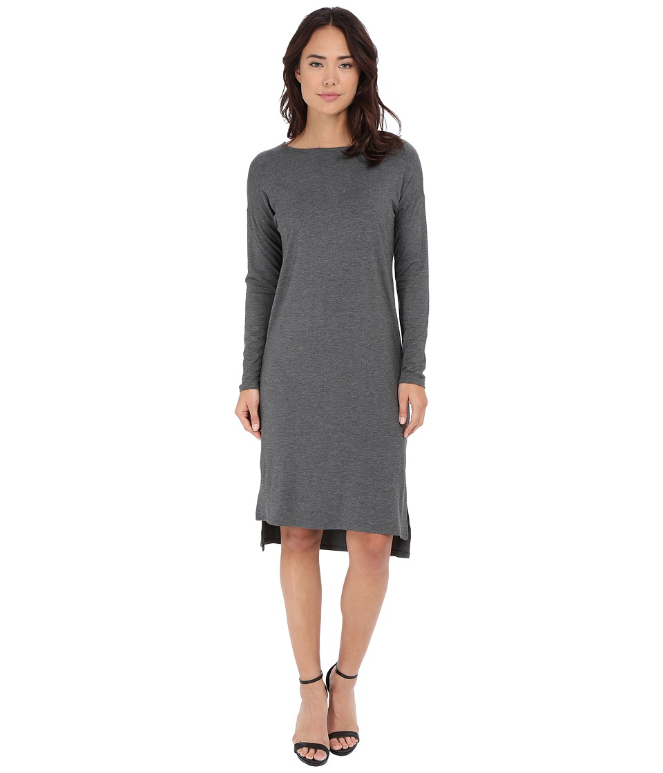 Culture Phit - Chantal Long Sleeve Dress (Heather Charcoal) Women's Dress