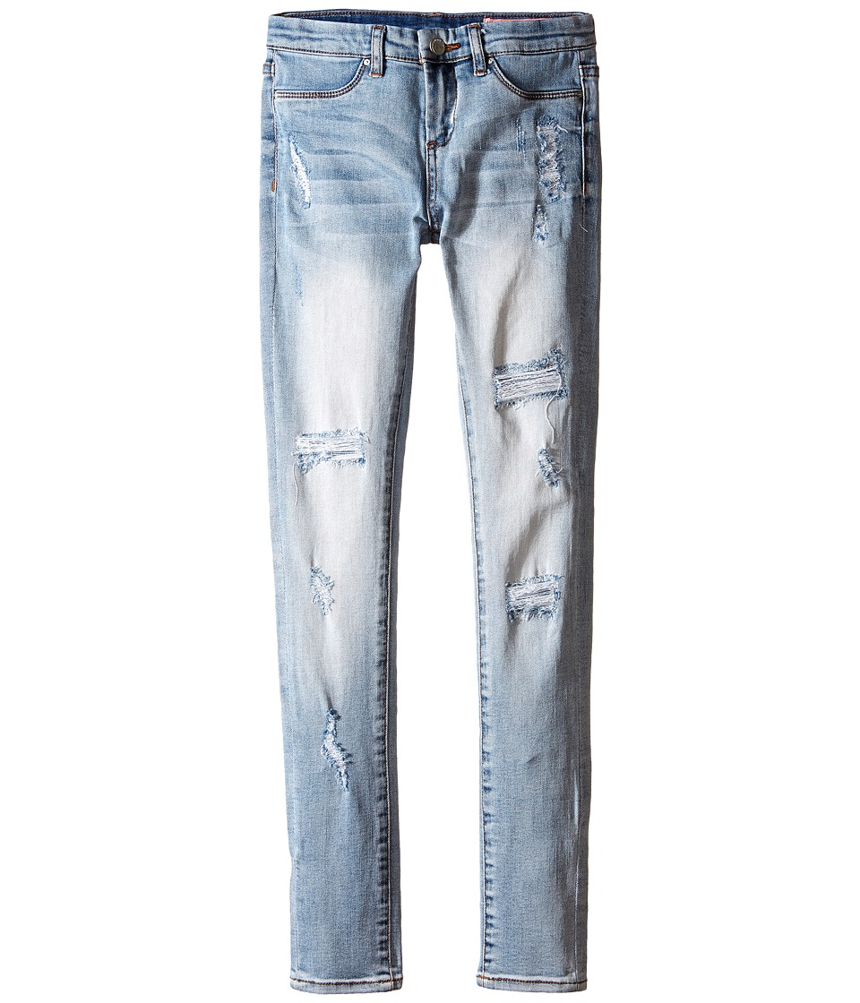 Blank NYC Kids - Light Denim Distressed Skinny Jeans in Secret Box (Big Kids) (Blue) Girl's Jeans