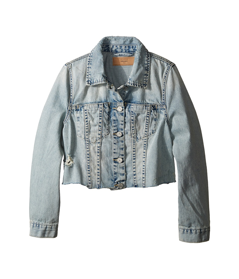 Blank NYC Kids - Crop Denim Jacket in Karaoke (Big Kids) (Blue) Girl's Coat