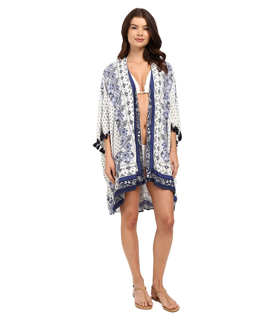 Roxy - Souk Paisley Poncho Cover-Up (Art Souk Paisley Poncho) Women's Swimwear