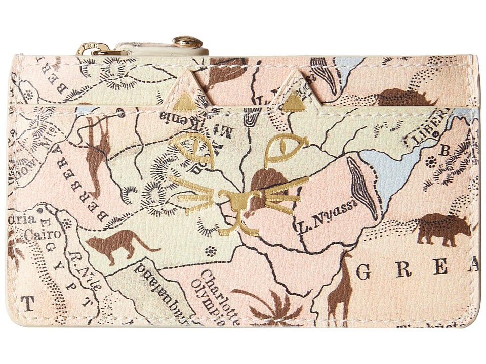 Charlotte Olympia - Feline Coin Purse (Map Print) Wallet Handbags