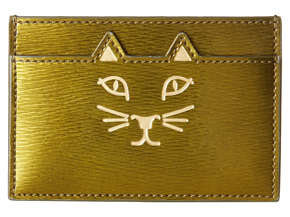 Charlotte Olympia - Feline Card Holder (Plantation Green) Credit card Wallet