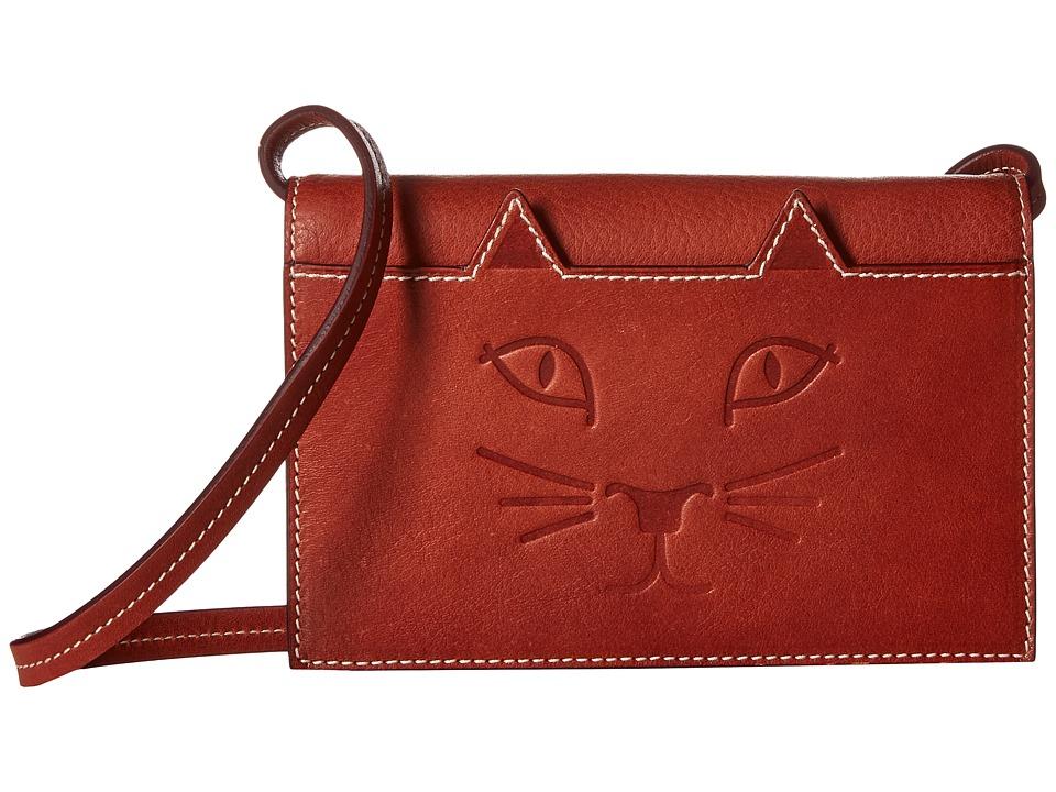 Charlotte Olympia - Feline Purse (Rust) Wallet Handbags