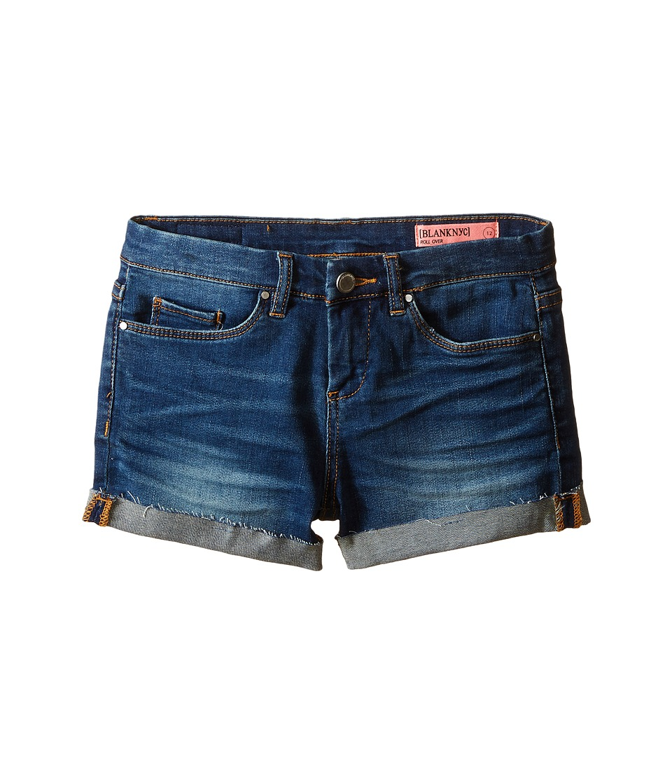 Blank NYC Kids - Denim Cuffed Shorts in Recover (Big Kids) (Blue) Girl's Shorts