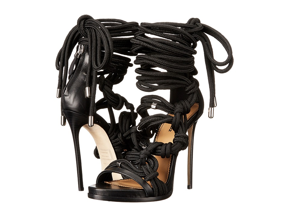 DSQUARED2 - Laces Sandal (Nero) Women's Sandals