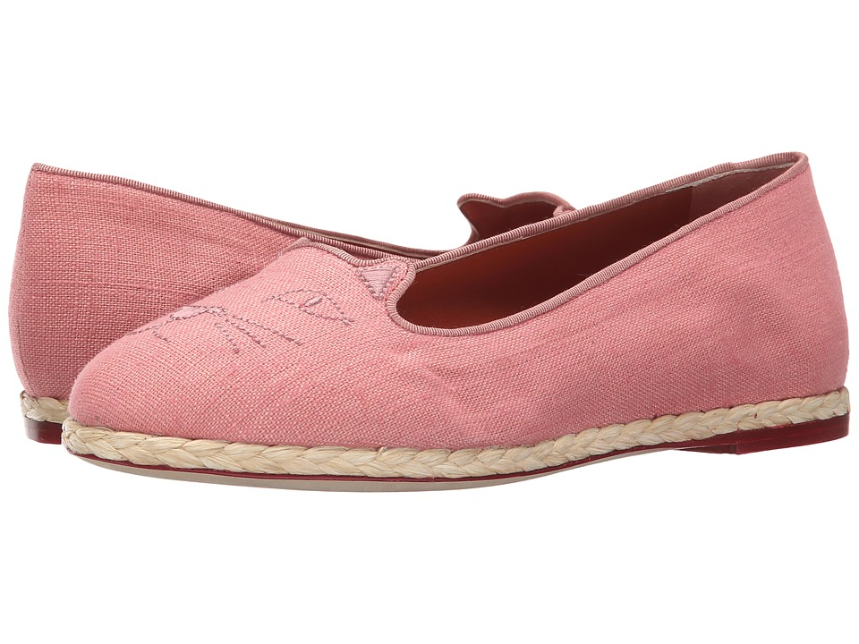 Charlotte Olympia - Capri Cats (Dusk Linen) Women's Flat Shoes