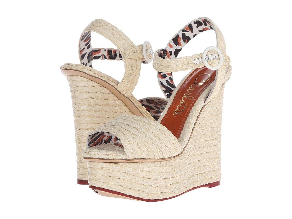 Charlotte Olympia - Karen (Natural Raffia) Women's Wedge Shoes