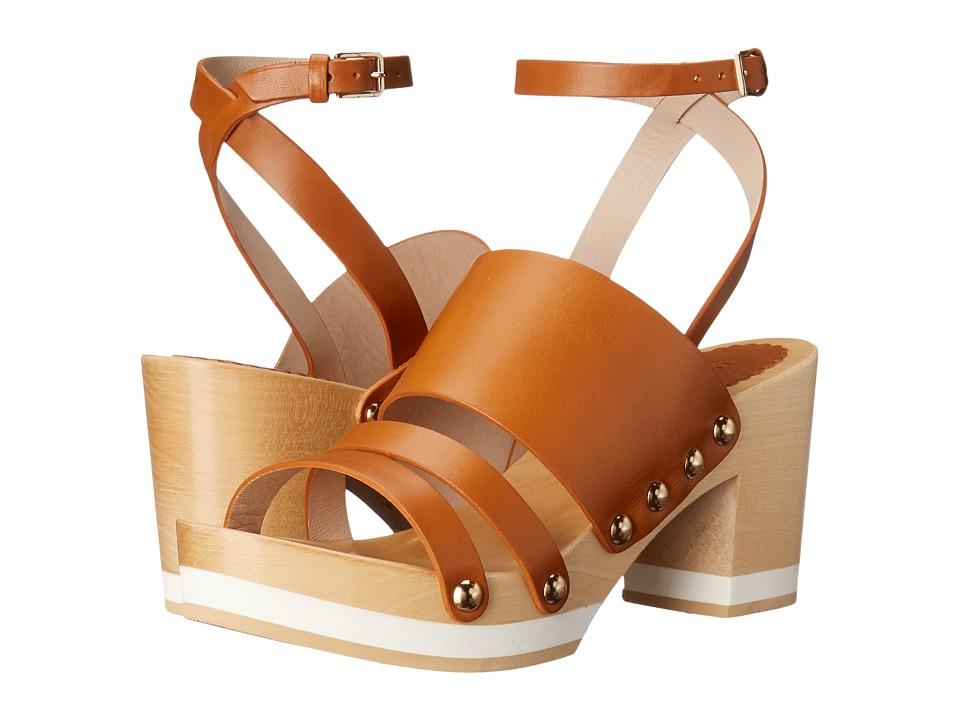 Furla - Gina Clog 55mm (Naturale/Naturale Vachetta/Vachetta) Women's Sandals