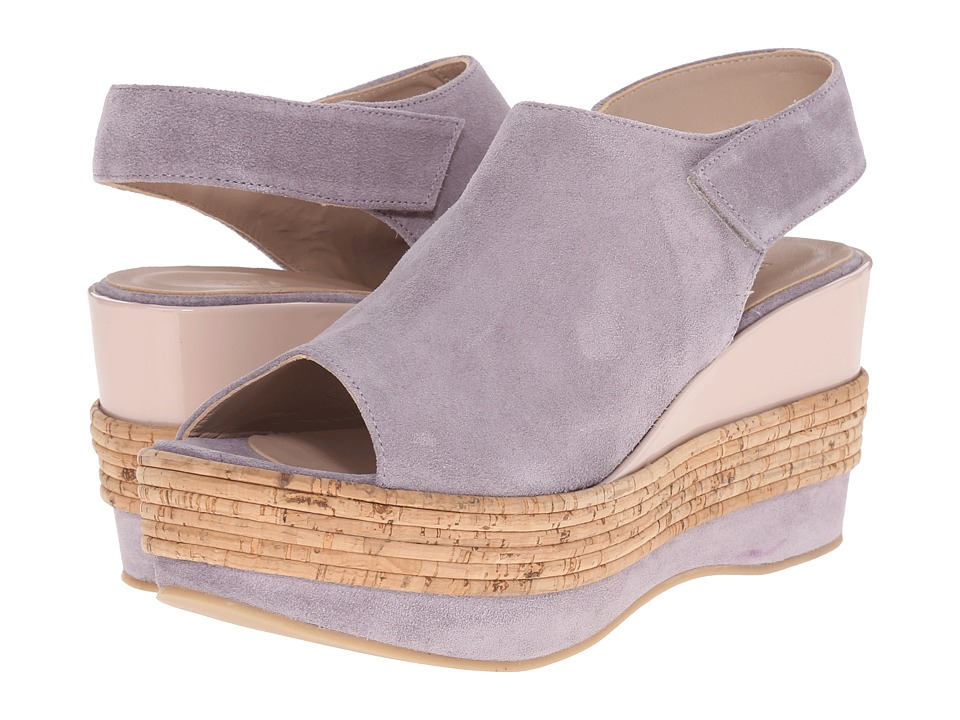 Furla - Sofia Wedge 80mm (Lilas/Magnolia Split Suede/Vernice Soft) Women's Wedge Shoes
