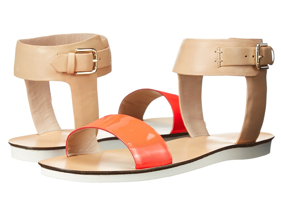 Furla Magia Sandal 5mm Rodonite Fluo-Naturale Vernice Fluo-Vacchetta Womens Sandals