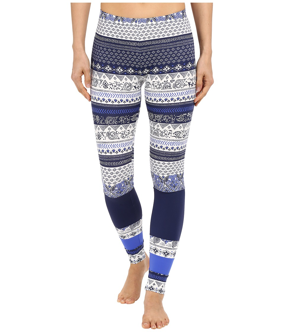 Roxy - Essentials Salty Geo Leggings (Souk Paisley Swim Combo Sea Spray) Women's Swimwear