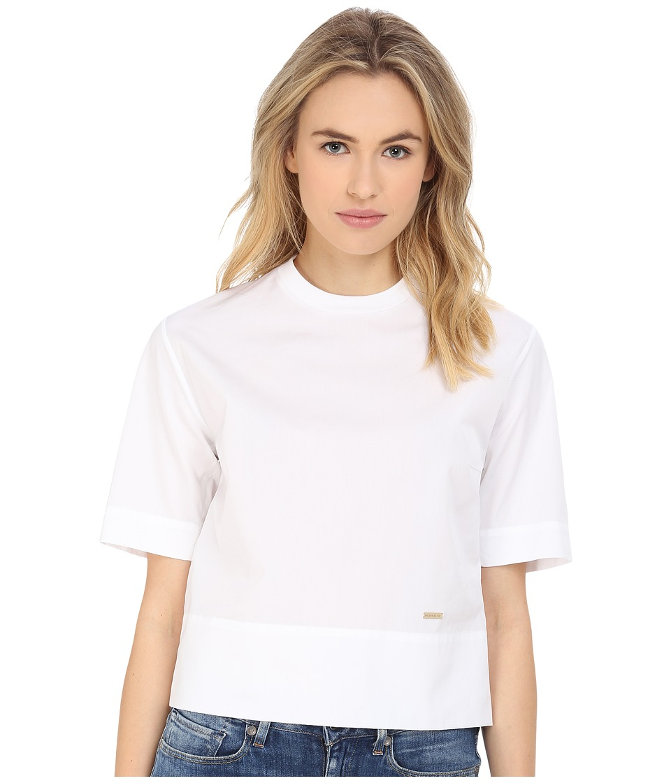 DSQUARED2 - Poplin Boxy T-Shirt (White) Women's T Shirt