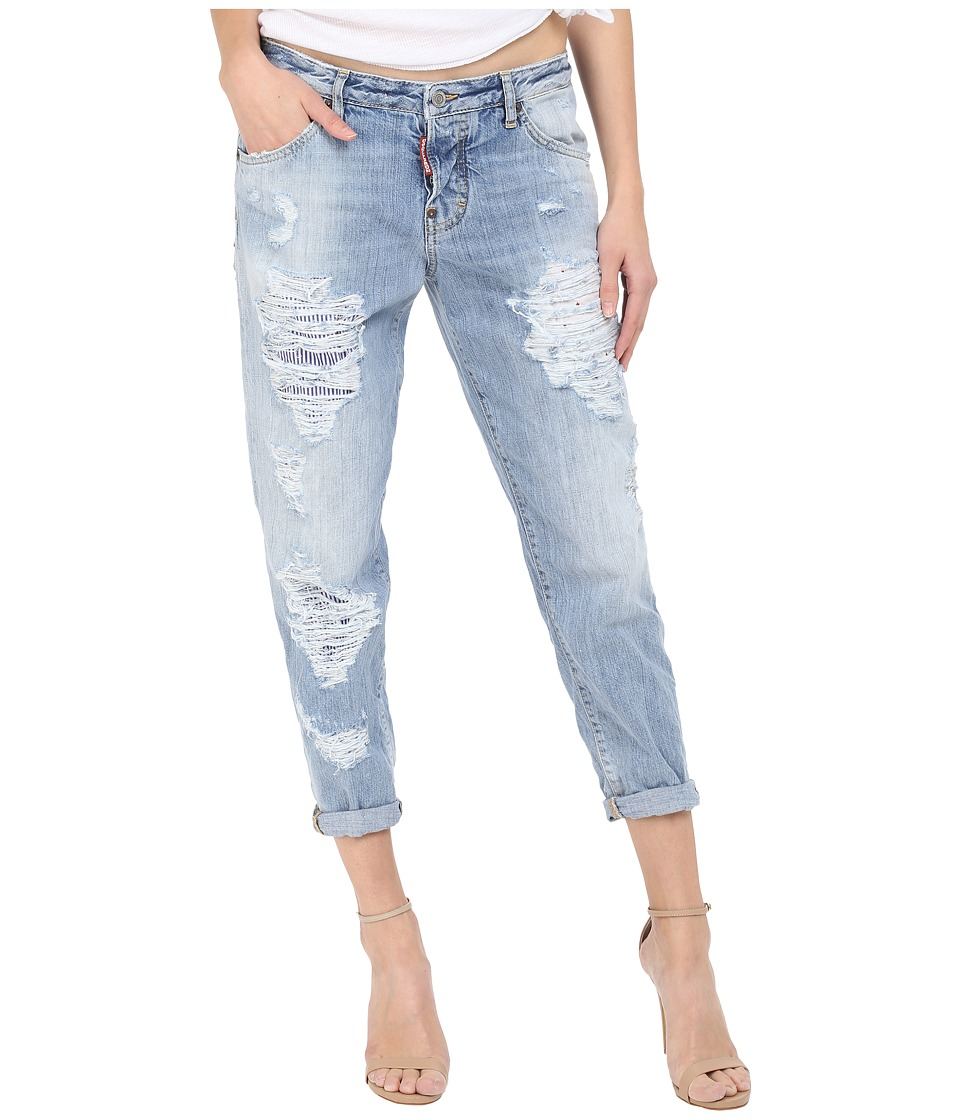 DSQUARED2 - 90s Wash Hockney Jeans in Blue (Blue) Women's Jeans