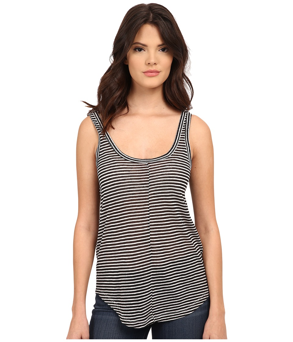 Paige - Shaelyn Stripe Tank Top (Black/White) Women's Sleeveless