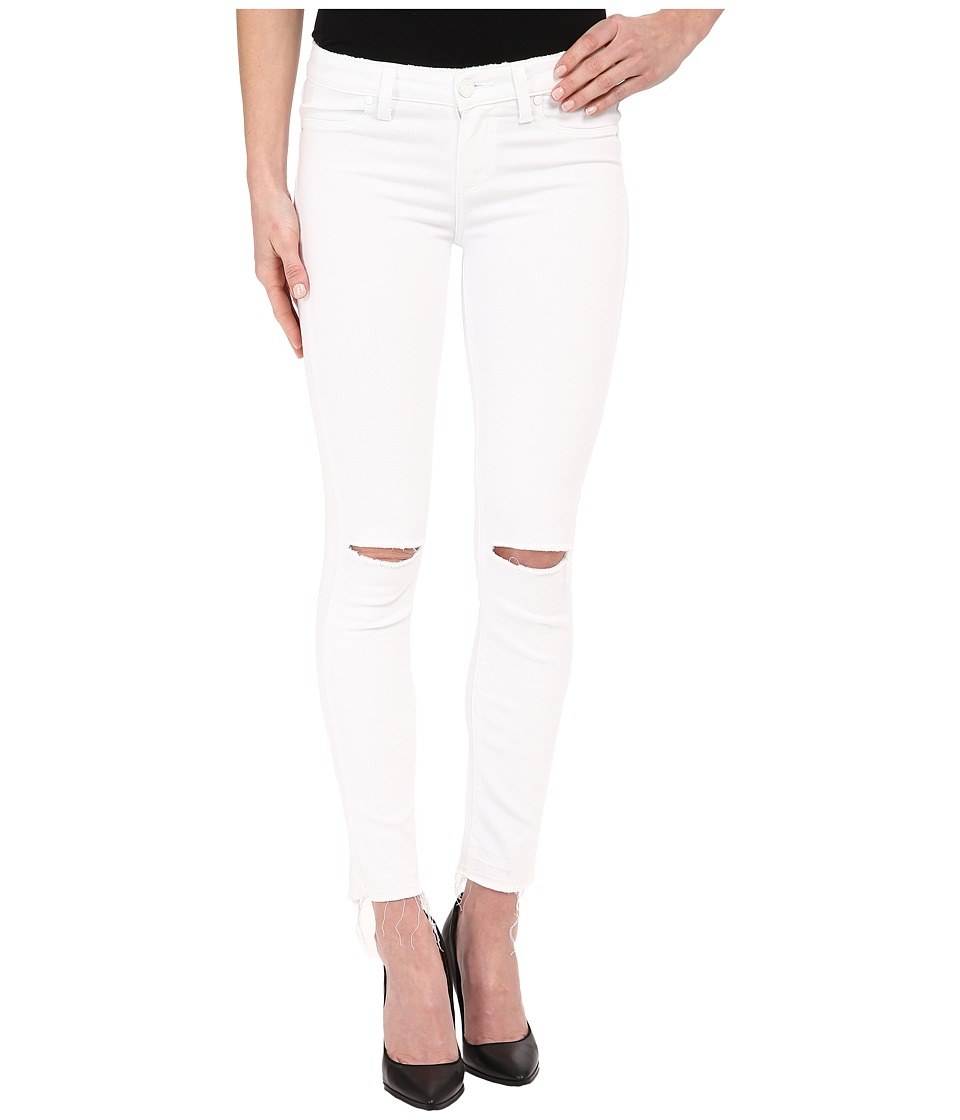 Paige - Verdugo Ankle w/ Undone Hem in White Mist Destructed (White Mist Destructed) Women's Jeans
