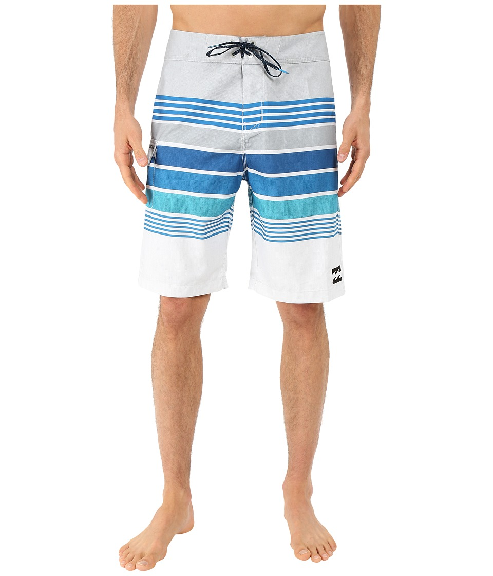 Billabong - All Day Stripe 21 Boardshorts (Silver) Men's Swimwear