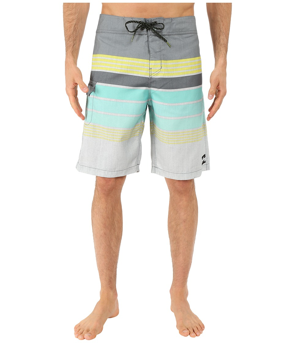 Billabong - All Day Stripe 21 Boardshorts (Charcoal) Men's Swimwear