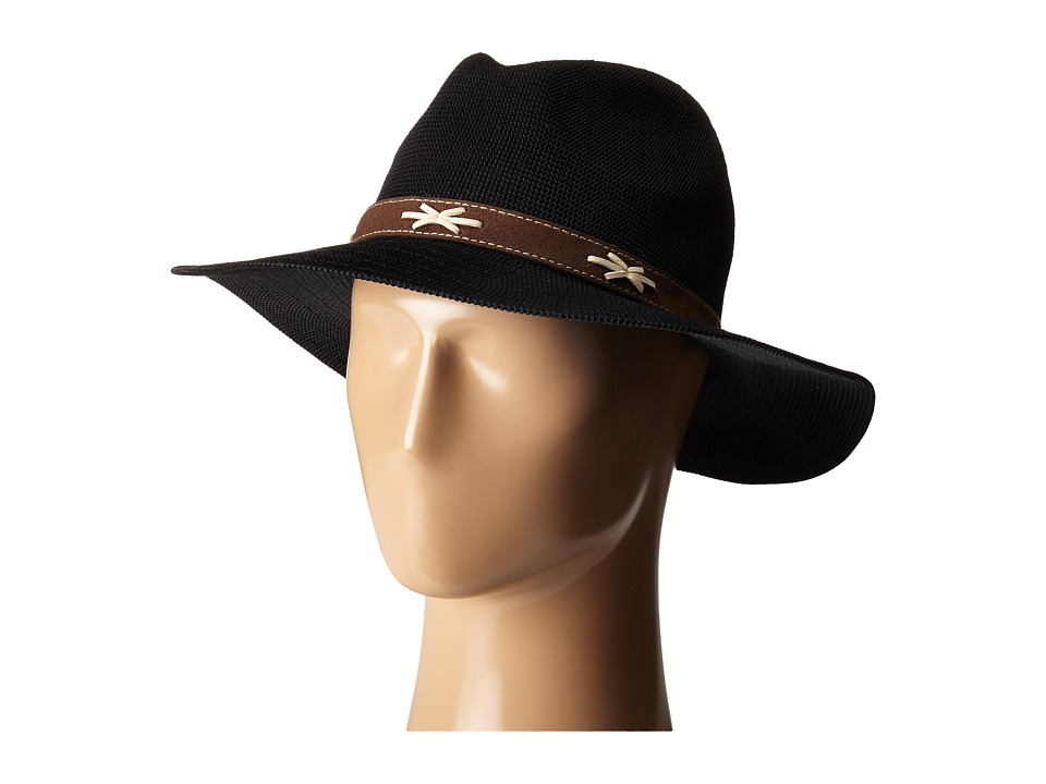 San Diego Hat Company - KNH8011 Knit Fedora Hat with Suede Band (Black) Fedora Hats