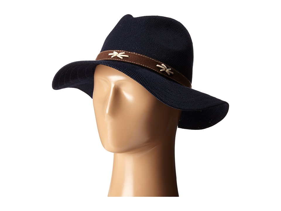 San Diego Hat Company - KNH8011 Knit Fedora Hat with Suede Band (Navy) Fedora Hats