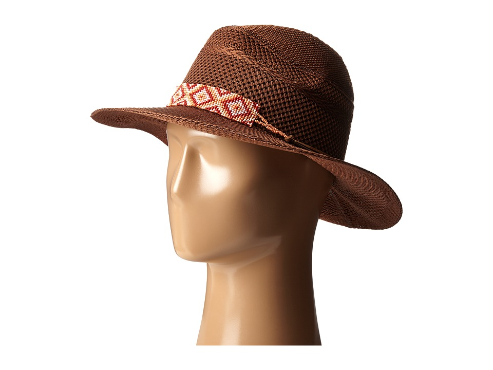 San Diego Hat Company - KNH8012 Knit Fedora Hat with Beaded Band (Tan) Fedora Hats
