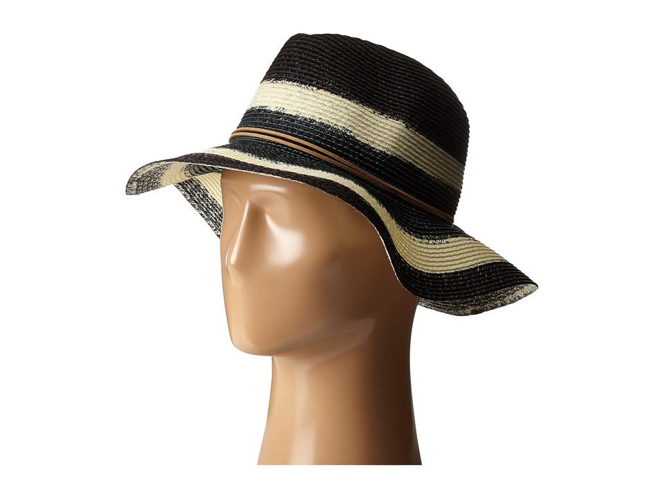 San Diego Hat Company - PBF3072 Dip Dye Fedora Hat with Suede Trim (Black) Fedora Hats