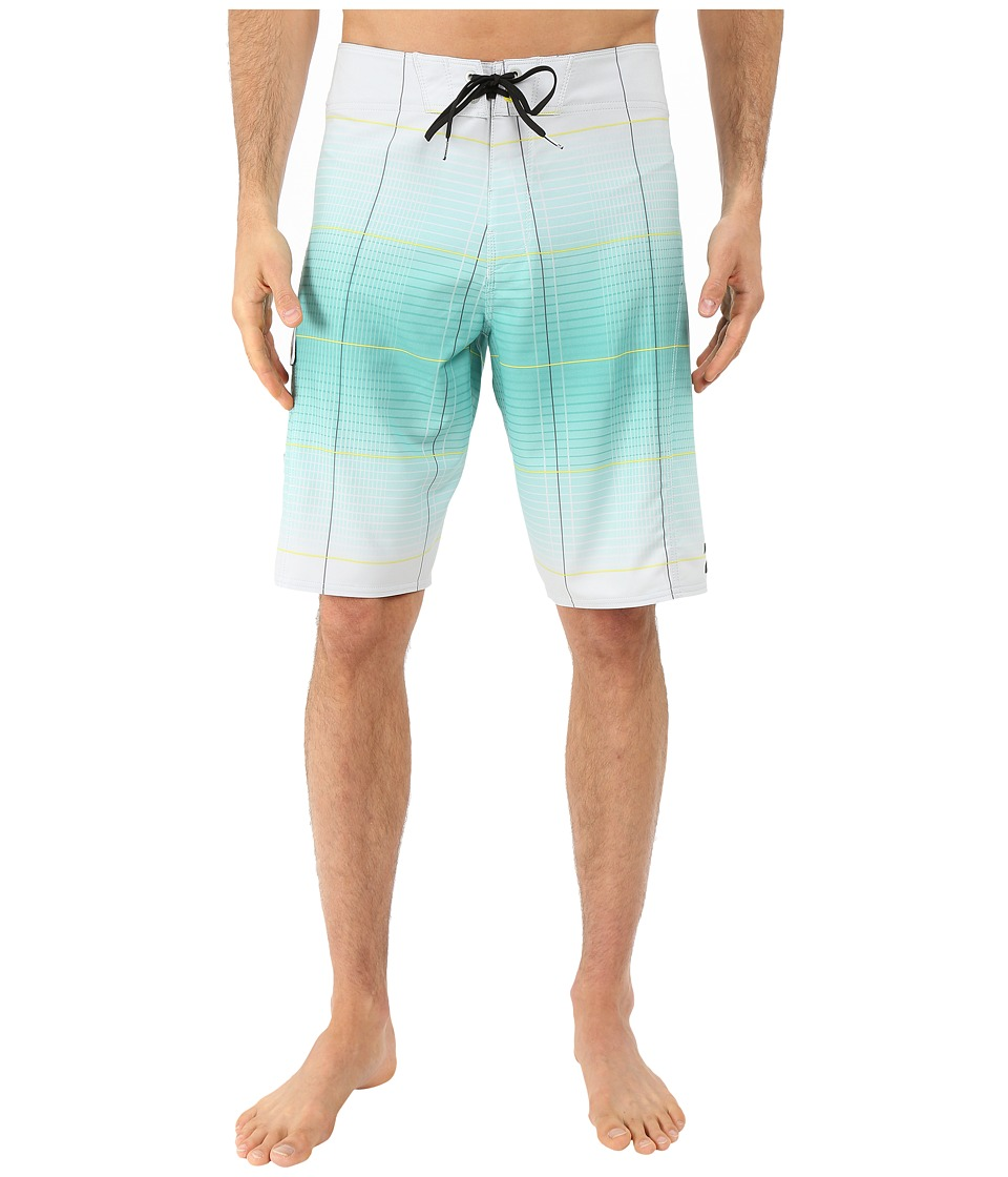 Billabong - All Day X Plaid 21 Boardshorts (Silver) Men's Swimwear