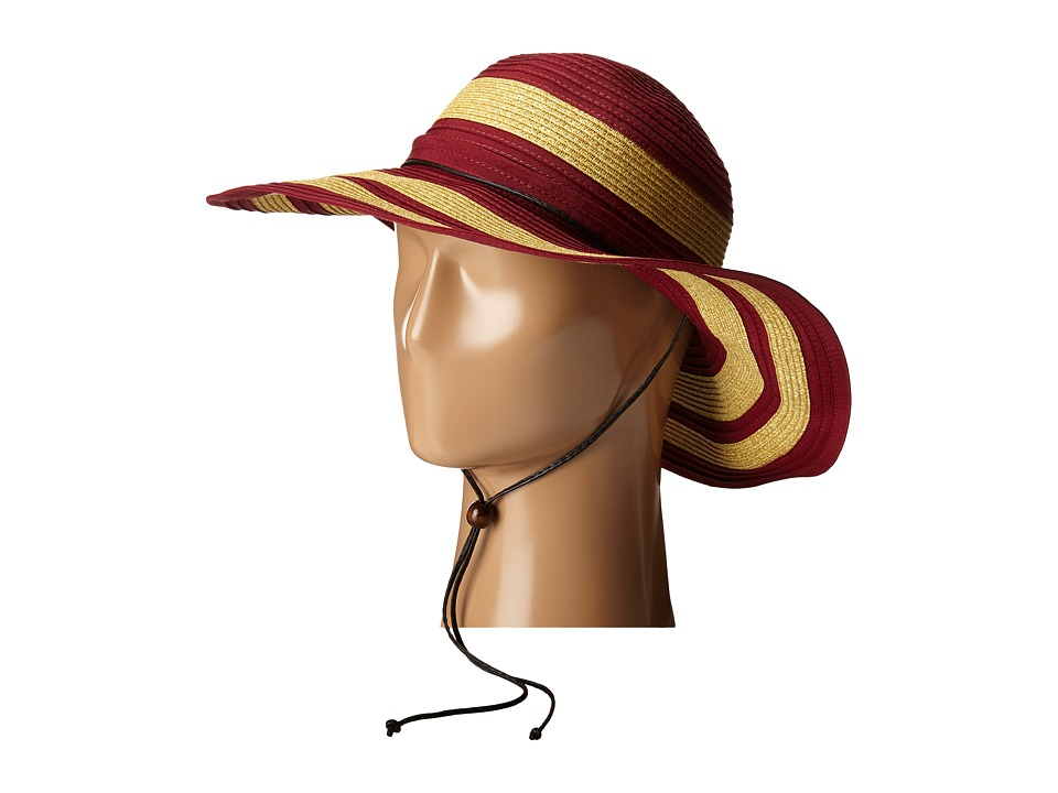 San Diego Hat Company - RBL4783 4.5 Sun Brim Hat with Adjustable Chin Cord (Red) Caps