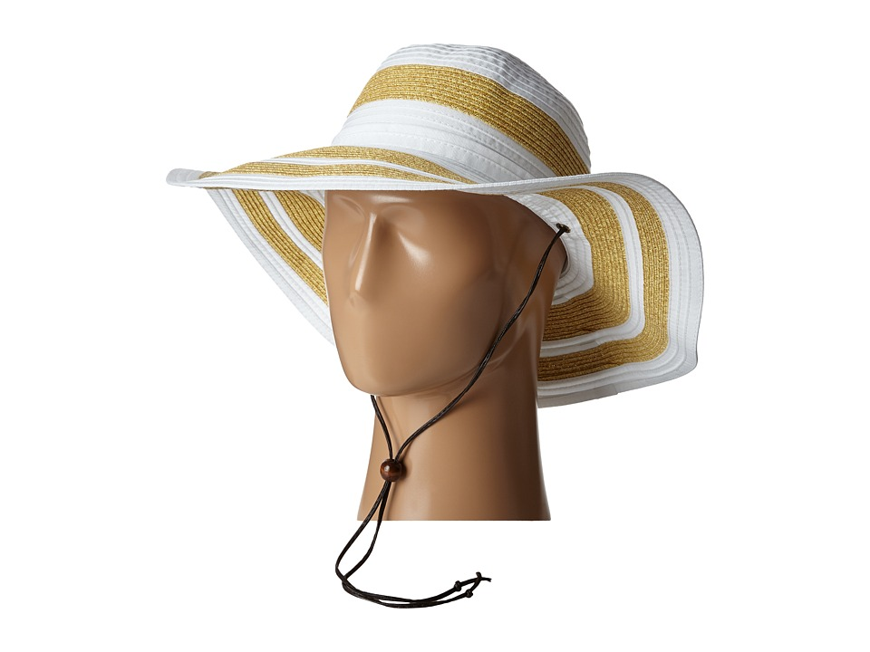 San Diego Hat Company - RBL4783 4.5 Sun Brim Hat with Adjustable Chin Cord (White) Caps