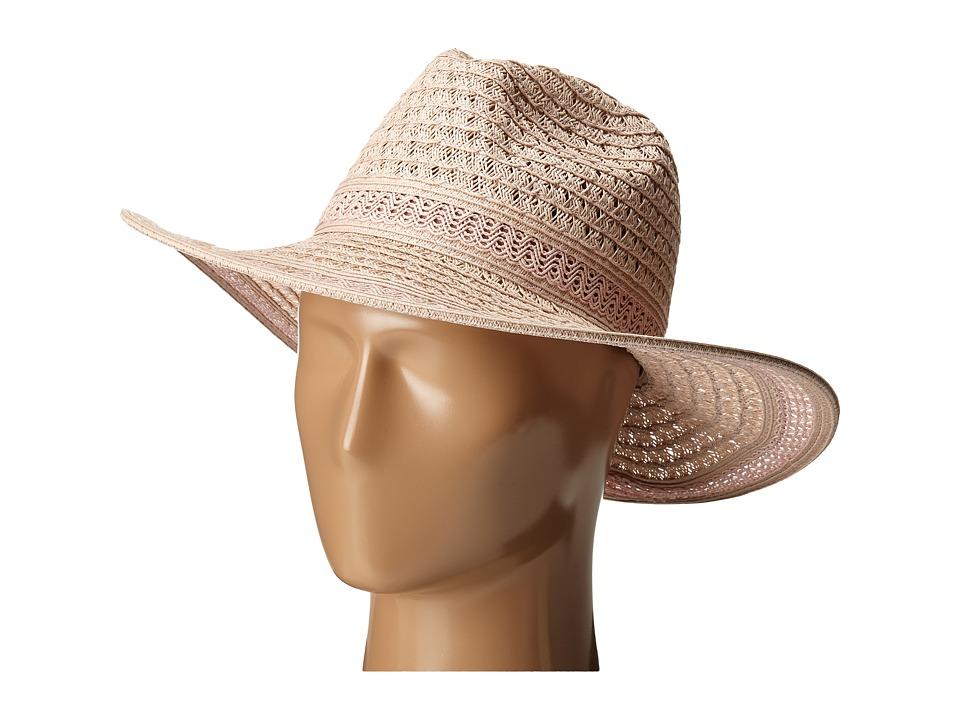 San Diego Hat Company - UBM4452 Open Weave Panama Sun Hat (Blush) Caps