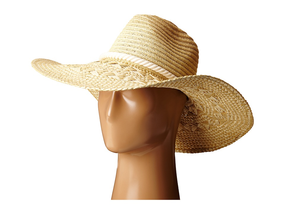 San Diego Hat Company - PBL3065 Floppy Sun Hat with Pinched Crown (Natural) Caps