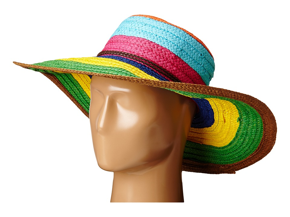 San Diego Hat Company - PBL3071 Striped Sun Brim Hat (Brights) Caps
