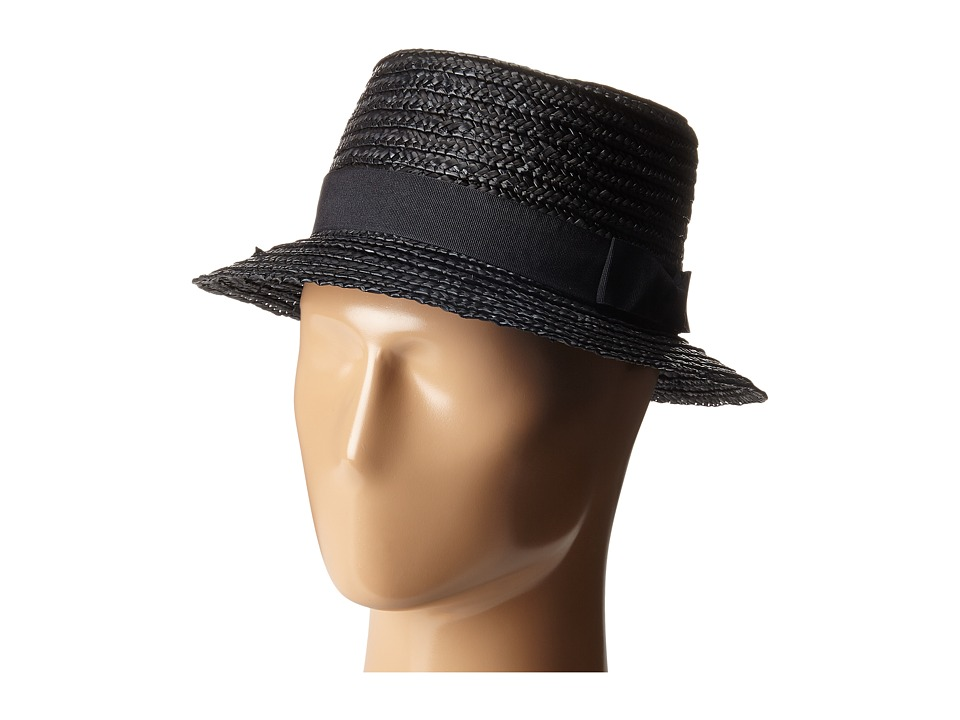 San Diego Hat Company - WSH1105 Straw Boater Hat (Black) Caps