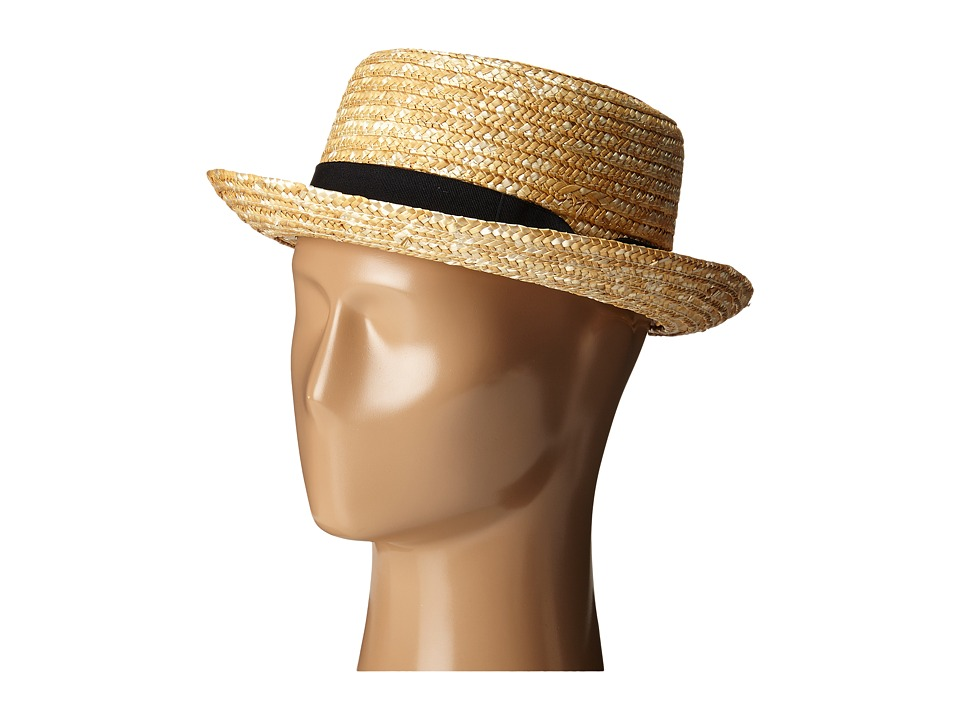 San Diego Hat Company - WSH1105 Straw Boater Hat (Natural) Caps